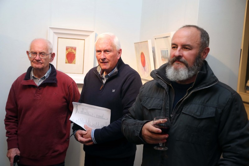 Some of those who attended the 71st exhibition launch of Coleraine Art Society at Flowerfield Arts Centre in Portstewart.