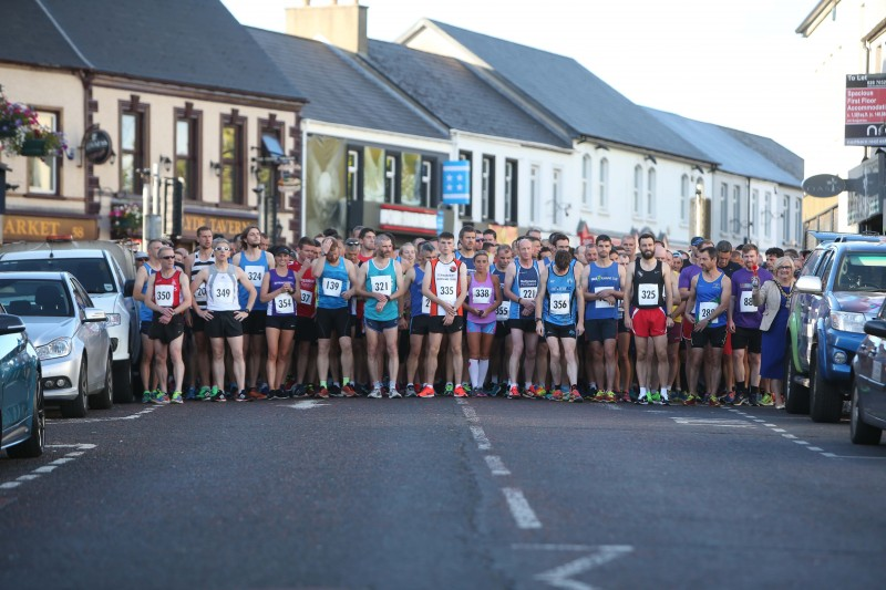 Pictured at the starting line for the Edwin May Five Mile Classic race in Coleraine organised by Causeway Coast and Glens Borough Council.