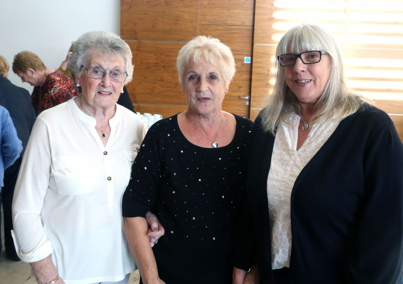 Mary Kerr, Oonagh Calvin and Anne McCrellis pictured at a civic reception for members of Ballymoney Evergreen Club in Cloonavin recently.