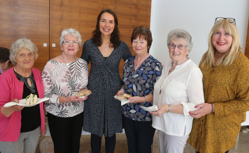 Doreen Dickie, Isobel Fleming, Councillor Stephanie Quigley, Mary Kerr and Councillor Angela Mulholland pictured at a civic reception to congratulate Ballymoney Evergreen Club on receiving the Queen's Award for Voluntary Service.