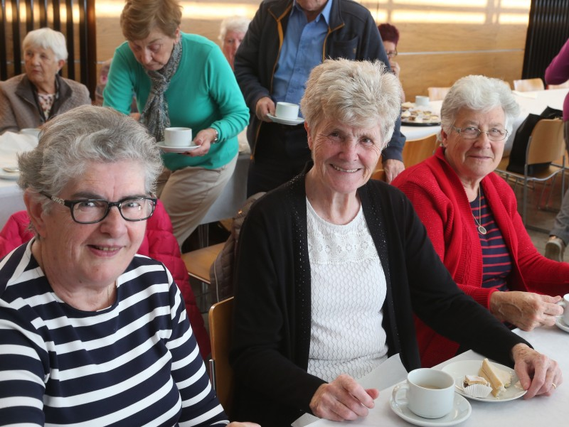 Mary Stevenson, Marian Stevenson and Isobel Dunlop pictured at a civic reception for members of Ballymoney Evergreen Club.