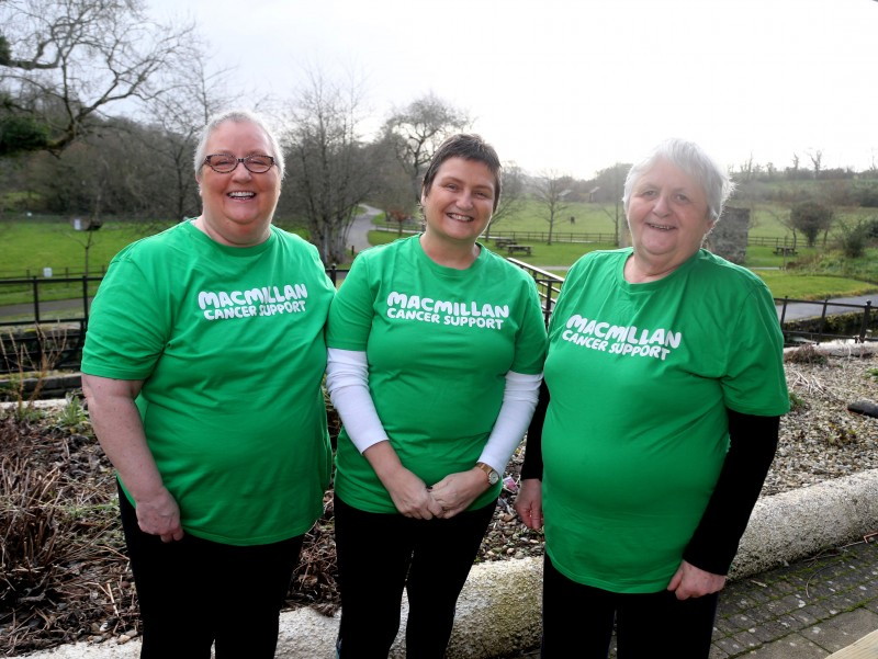 Janette Simpson, Jeanette McCloskey and Ann Cole pictured at the walk for Move More participants held on World Cancer Day in Roe Valley Country Park.