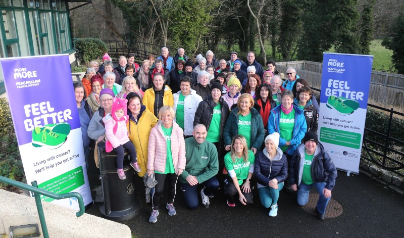 Some of those who took part in the walk at Roe Valley Country Park on World Cancer Day.