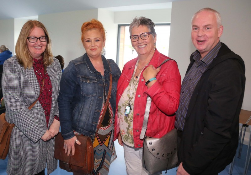 Pictured at the official opening of Magilligan Community Centre recently are Rose Smyth from CRUN, Ashleen Schenning from Limavady Community Development Initiative, LCDI, Ann McNickle from CRUN and Councillor Dermot Nicholl.