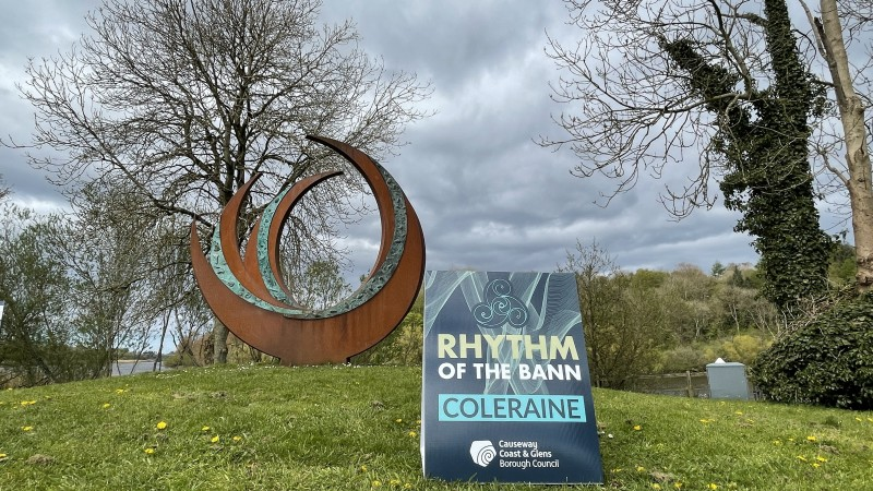 This sculpture, called The Source, is located in Somerset Park in Coleraine, along the River Bann.