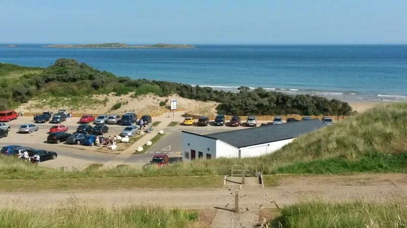 Main car park at Whiterocks