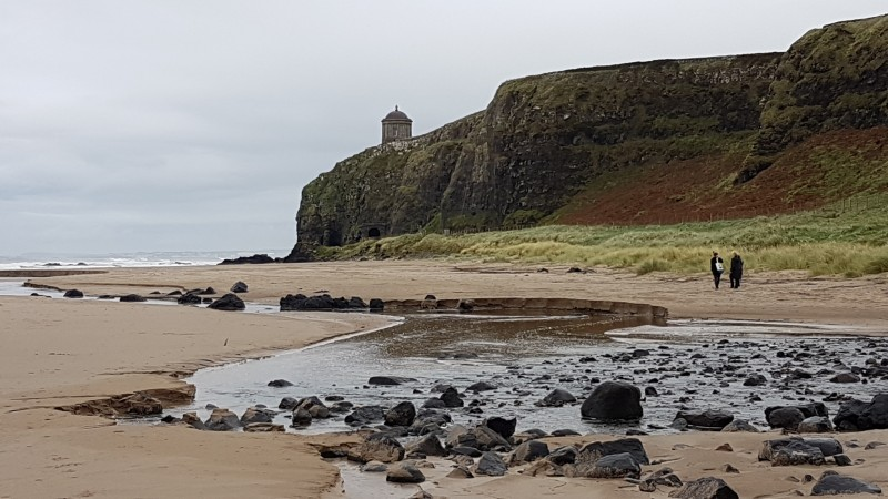 Looking eastwards with Mussenden Temple in background