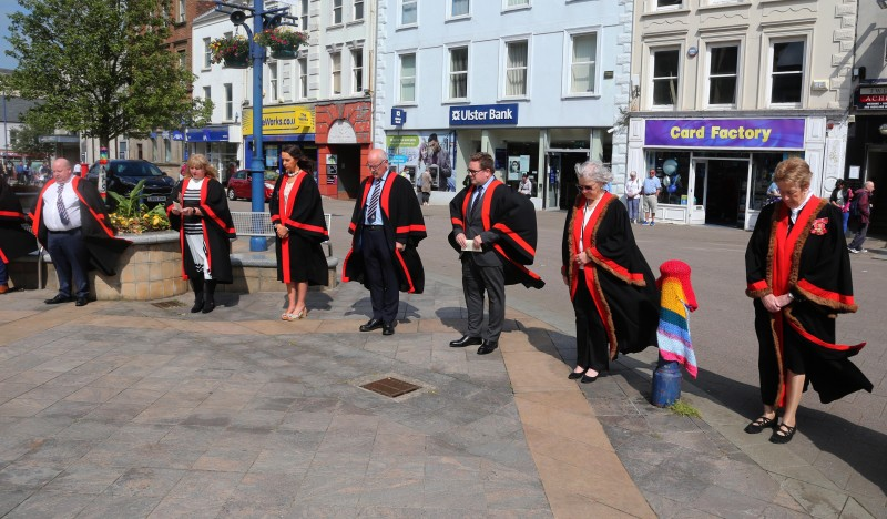The Lord Lieutenant for County Londonderry, Mrs Alison Millar, pictured in Coleraine for the Armed Forces Day event held on Monday 21st June 2021.