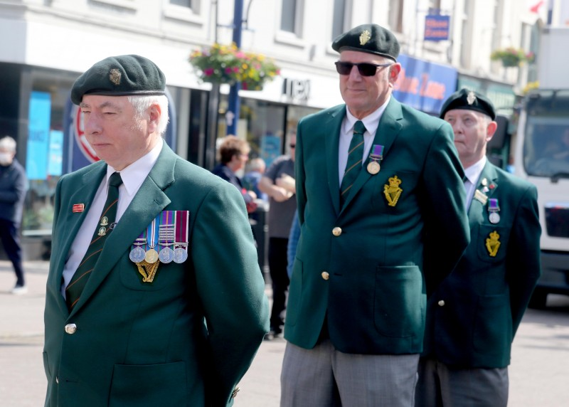 A moment of reflection during the Armed Forces Day event held on Monday 21st June 2021 in Coleraine.