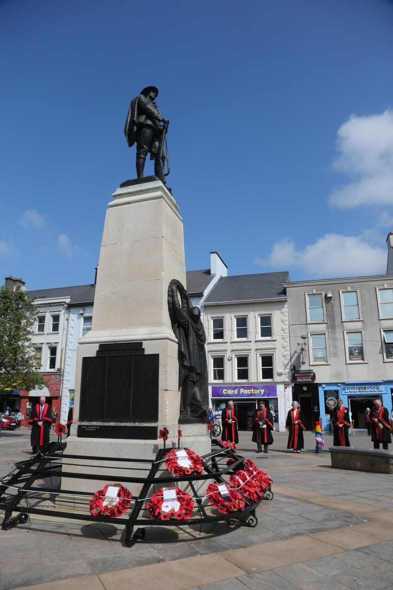 The War Memorial at the Diamond in Coleraine where the Armed Forces Day commemoration took place on Monday 21st June 2021.