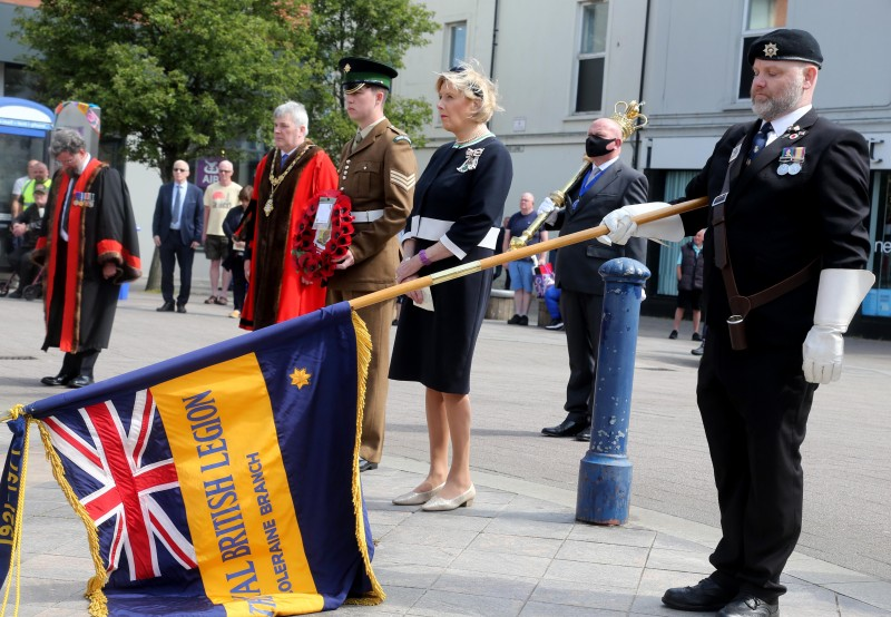 Pictured at the Armed Forces Day commemoration in Coleraine.