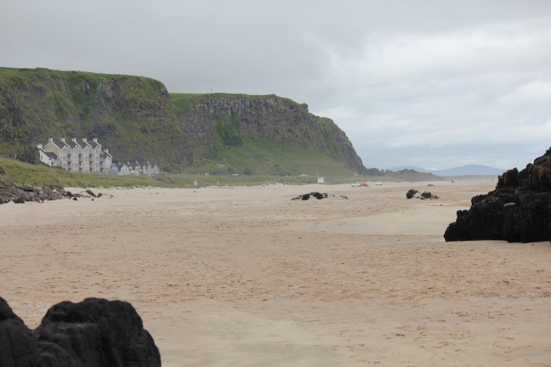 Looking westwards from beneath cliffs at Mussenden Temple