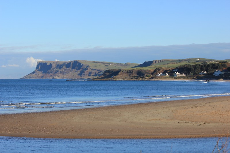 Looking over River Margy eastwards with Fairhead in background