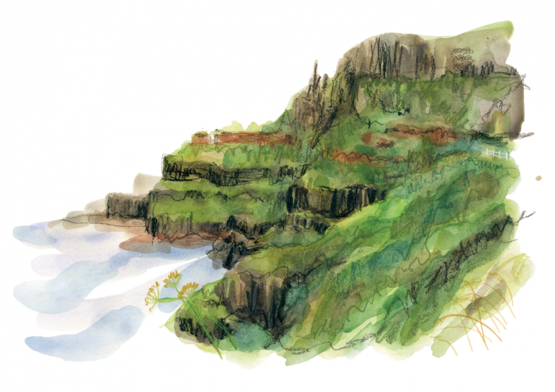 A painting of the stunning Causeway coast submitted to the NI 100 Art Competition by Gemma O'Neill.