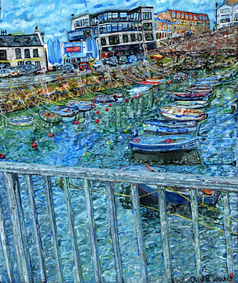 The winning entry in the Best Painting or Drawing category, Portrush Harbour by Olivia Walker.