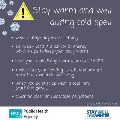Stay Warm and Well during the Cold Spell
