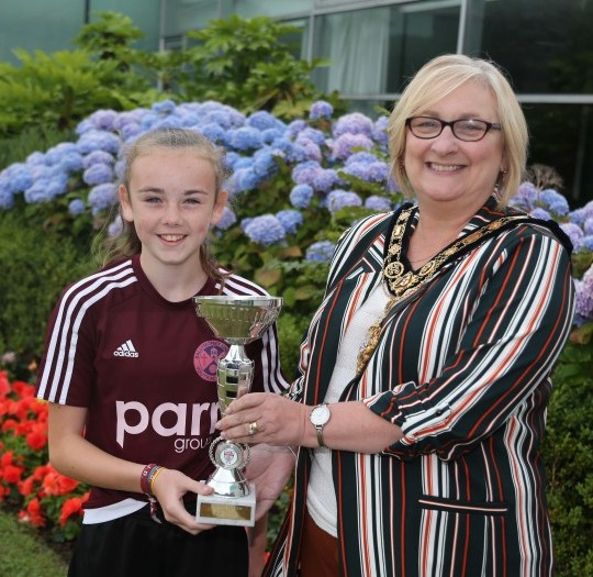 Mayor applauds Ballymoney girls Foyle Cup victory