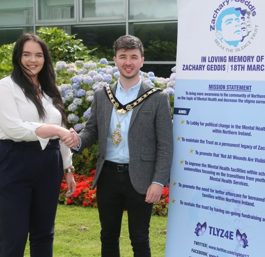 Image of The Zachary Geddis Break the Silence Trust selected as the Mayor's official charity