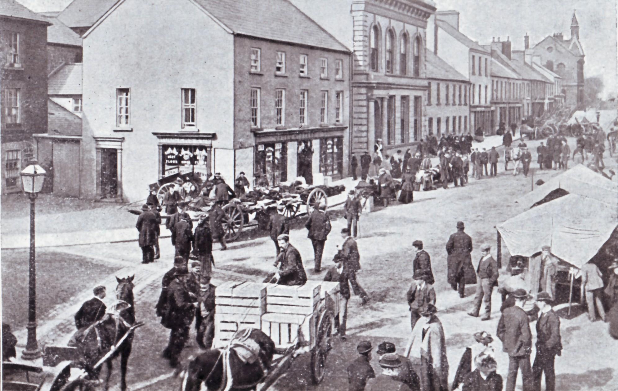Ballymoney High Street on market day