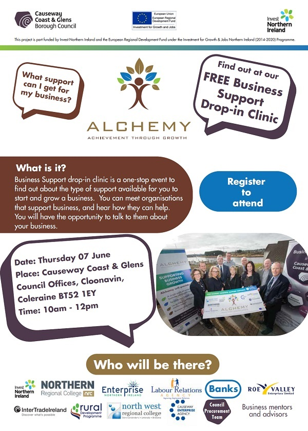 Business Support Drop-in Clinic, 7th June 10am - 12 noon
