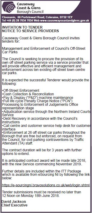 Invitation to tender for the management enforcement of off street invitation to tender for the management enforcement of off street carparks stopboris