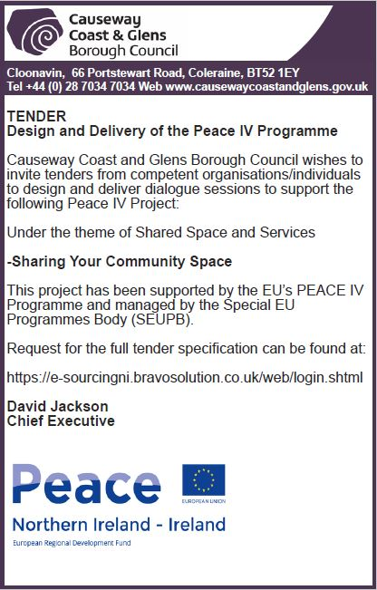 TENDER- DESIGN AND DELIVERY OF THE PEACE IV PROGRAMME