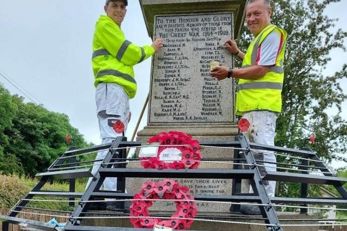 Restoration work underway at Aghadowey War Memorial