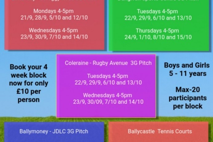 Book now for after-schools Multi Sport Camps for young people