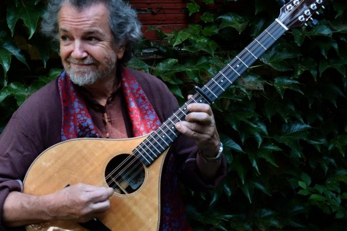 Andy Irvine on stage at Flowerfield Arts Centre