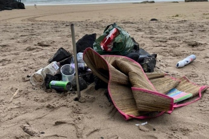 Appeal after extensive littering at coastal locations