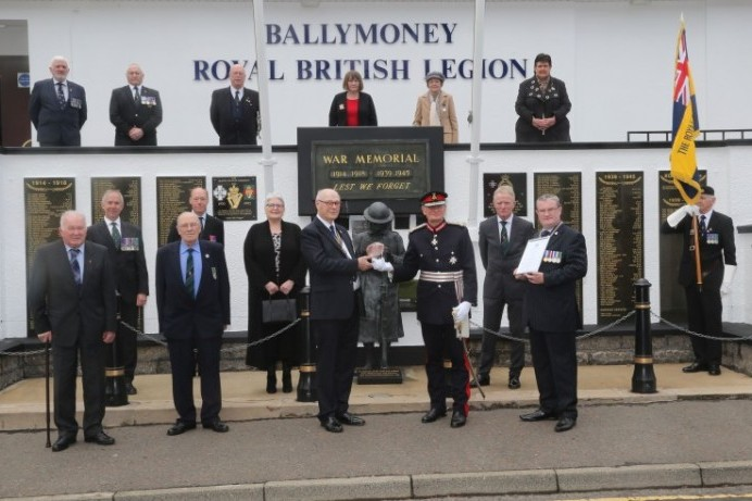 Ballymoney RBL recognised for its Queen's Award for Voluntary Service