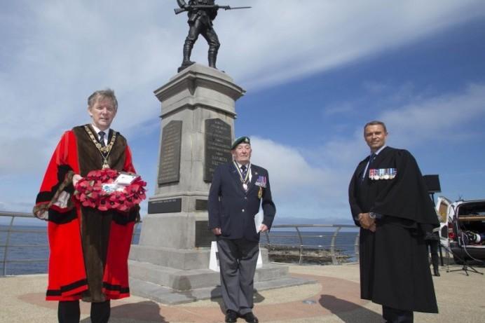Mayor attends Battle of the Somme commemoration at Portstewart War Memorial