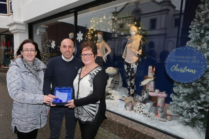 Moores named the winner of Coleraine Christmas Window Competition