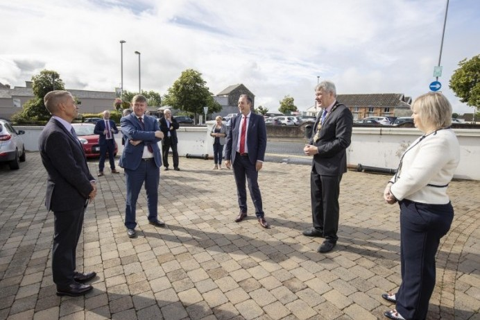 Ballymoney Museum enjoys a visit from the First Minister