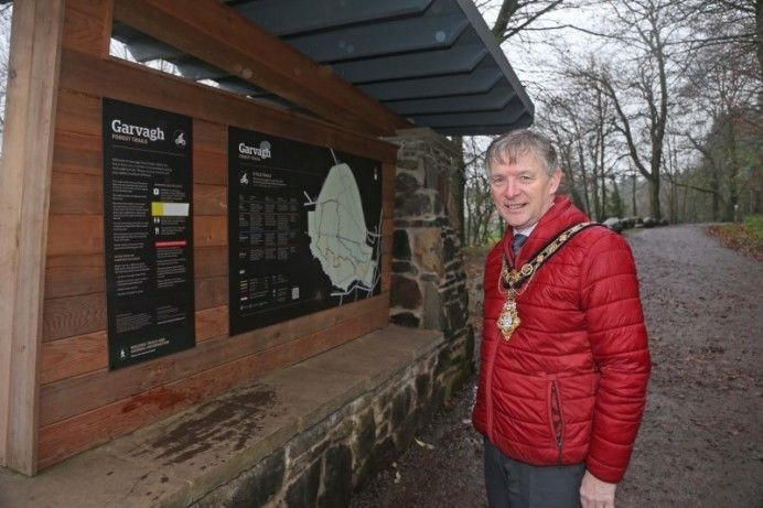 Mayor of Causeway Coast and Glens Borough Council marks success of Garvagh Forest trails