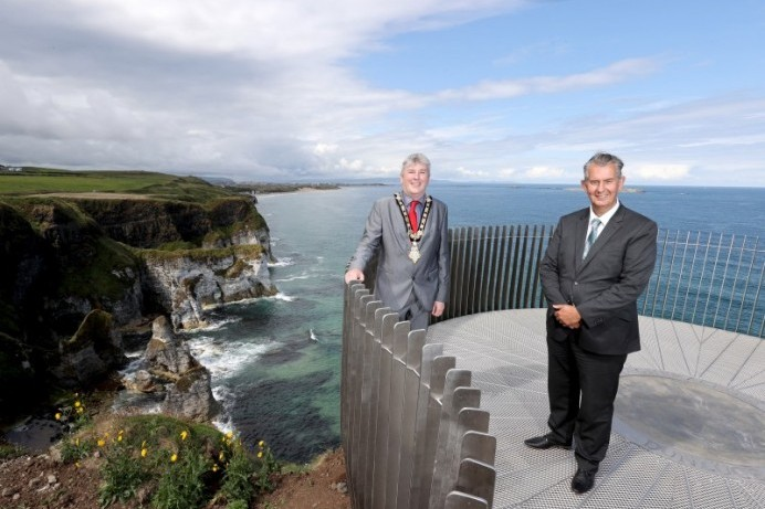 Minister's visit marks the completion of world-class development at spectacular coastal locations