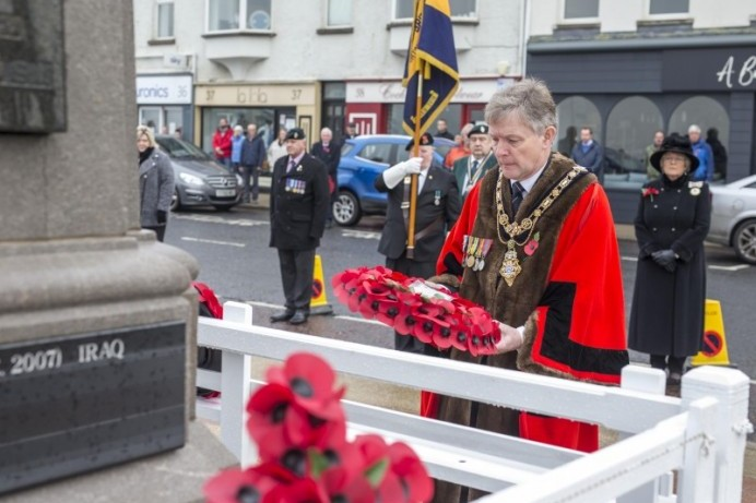 Mayor attends annual Act of Remembrance at Portstewart War Memorial on Remembrance Sunday