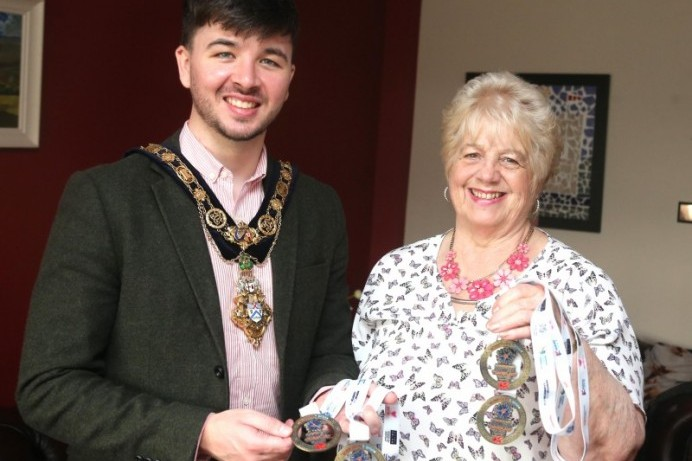 Mayor's reception held for Transplant Games star