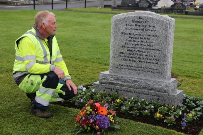Memorial Service held at 'Paupers' Graves' in Ballymoney