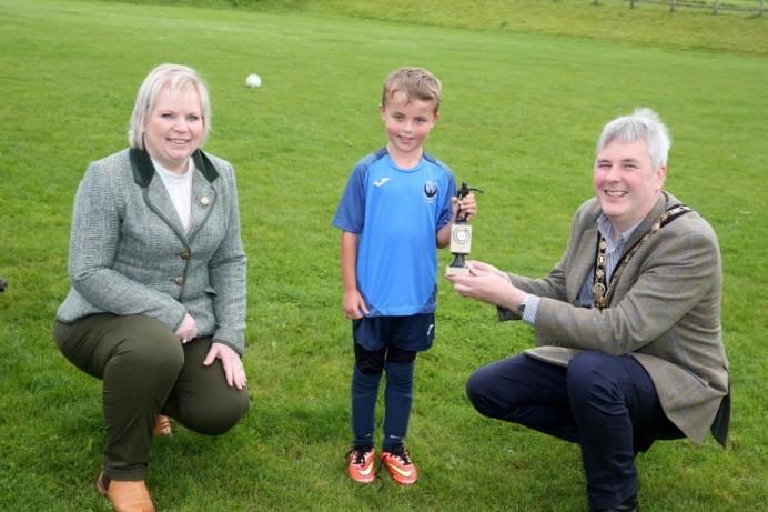 NI Centenary grant in action at Portstewart Football Summer Camp