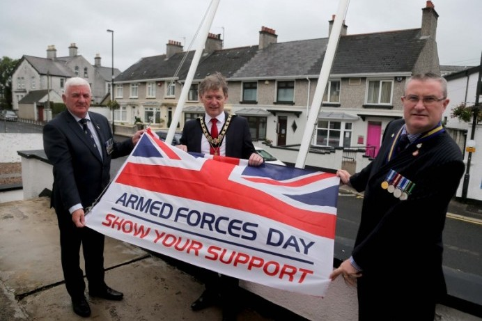 Armed Forces Day Flag raised in Ballymoney