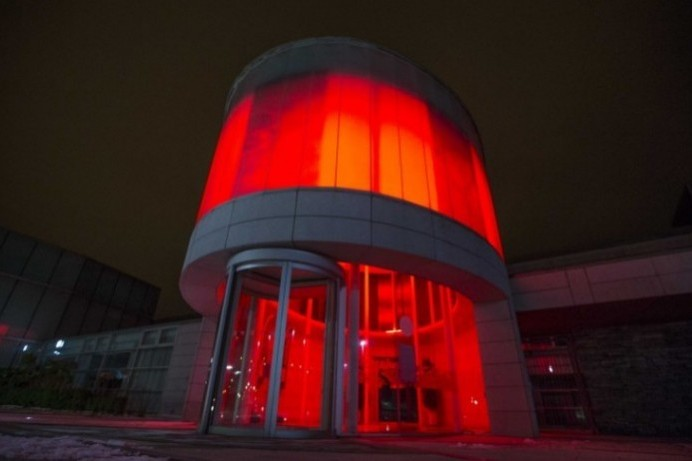 Cloonavin lights up in red to highlight World Encephalitis Day