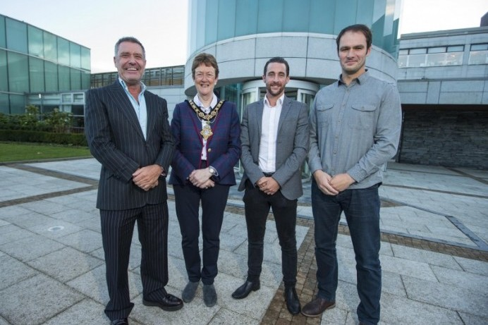 Mayor's reception held for record breaking Home to Portrush crew