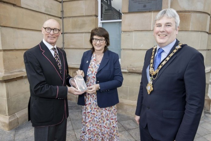 Bann Rowing Club receives the Queen's Award for Voluntary Service