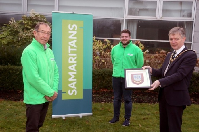 Mayor of Causeway Coast and Glens Borough Council marks 50 years of the Samaritans