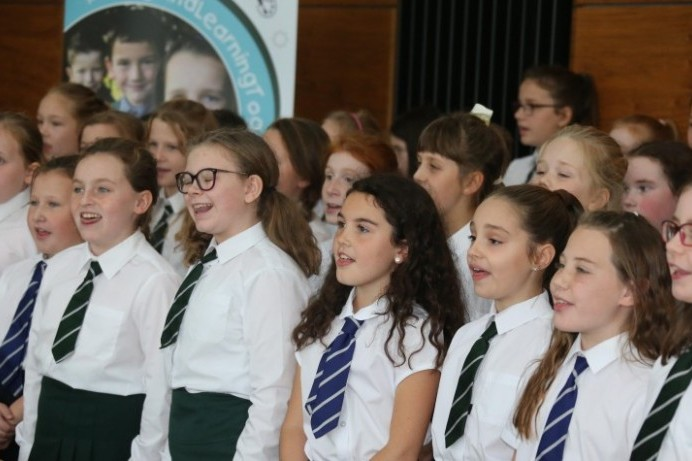 Joint school choir performance marks Shared Education Week
