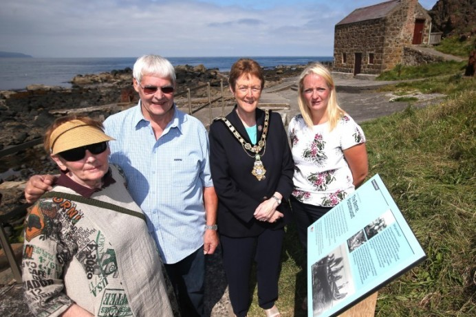 Long distance swimmers honoured by new Portstewart plaque