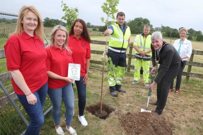 Community tree planting project takes place in Mosside