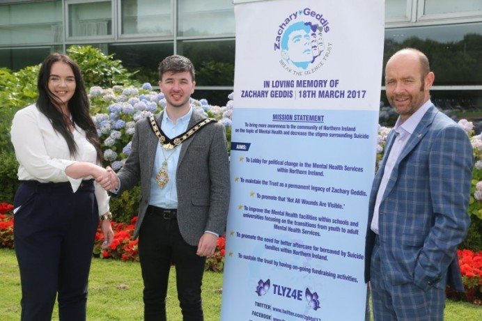 The Zachary Geddis Break the Silence Trust selected as the Mayor's official charity