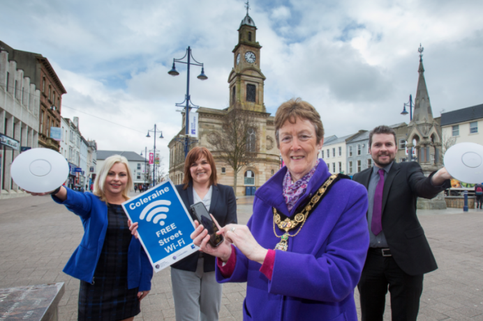 Free On Street WiFi provides a digital boost for Coleraine
